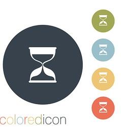 Hourglass waiting vector
