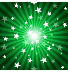 Sun rays and stars vector