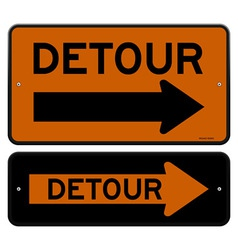Detour sign vector