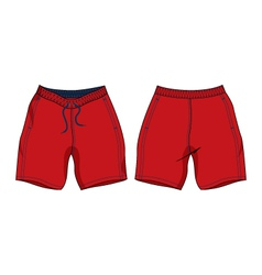 Men swim shorts template vector
