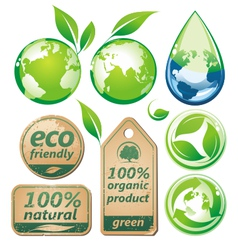 Green environmental set vector