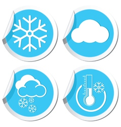 Snow icons set vector