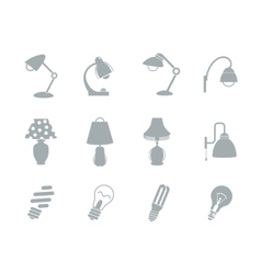 Set of table lamps vector