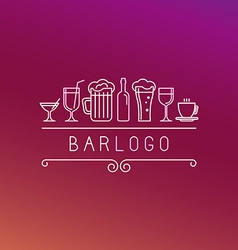 Bar logo in linear style vector