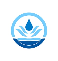 Water drop icon circle logo vector