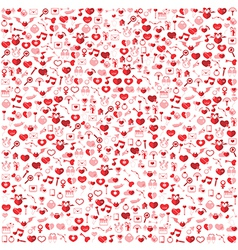 Template background valentines day love icon vector