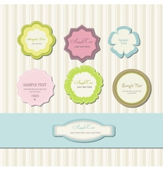 Label vintage set vector