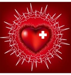 Heart electrocardiogram vector