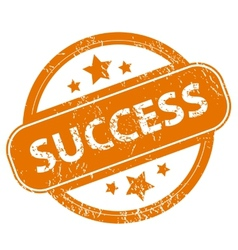 Success grunge icon vector