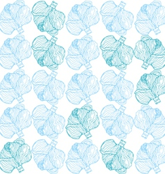 Cabbage pattern vector