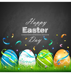 Easter eggs and confetti vector