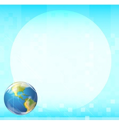 A template with a globe vector