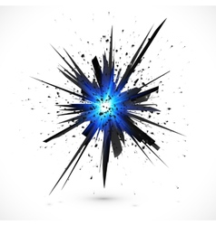 Black isolated explosion with particles vector