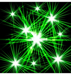 Green shining cosmic light vector