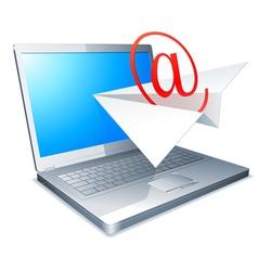 Sending e-mail concept vector
