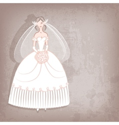 Bride on vintage background vector