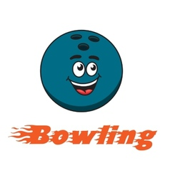 Bowling and bowling ball icon vector