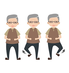 Exercise for elder people vector