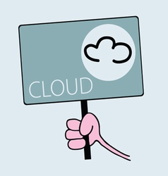 Panel for cloudy weather vector