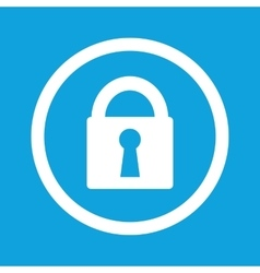 Locked sign icon vector