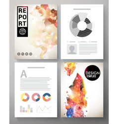 Creative modern template for an corporate report vector