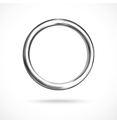 Silver ring copyspace torus round eps10 vector