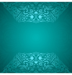 Modern cyan colored background vector