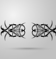 Tribal tattoo on a gray background with shadow vector