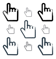 Set of point hand gestures created with real vector