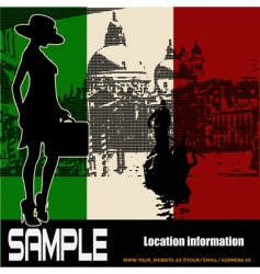 Italian travel flyer vector