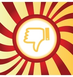 Dislike abstract icon vector