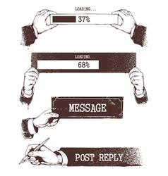 Vintage progress indicators vector
