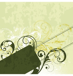 Green flourish background vector
