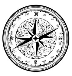 Vintage antique compass vector