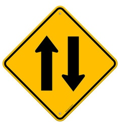 Yellow sign directional arrows vector
