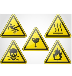 Warning sign set 2 vector