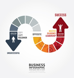 Infographic bussiness route to success concept vector