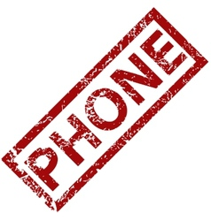 Phone rubber stamp vector