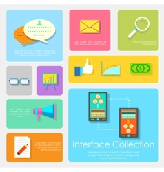 Flat interface design collection vector