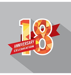 18th years anniversary celebration design vector