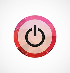 Power circle pink triangle background icon vector