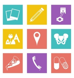 Icons for web design set 23 vector