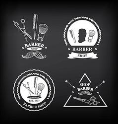 Barber shop labels icons vector