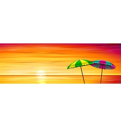 Two parasols vector