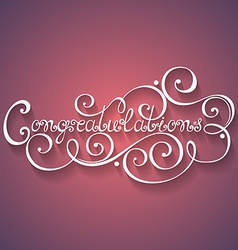 Congratulations inscription holiday invitation vector