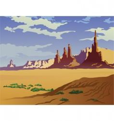Arizona landscape vector