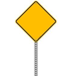 Empty yellow sign vector