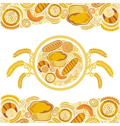 Bakery bread background vector