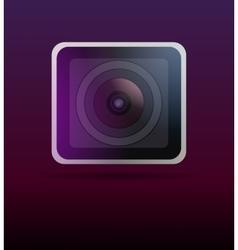 Close up image of a camera lens vector