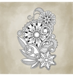 Abstract floral and ornamental item background vector